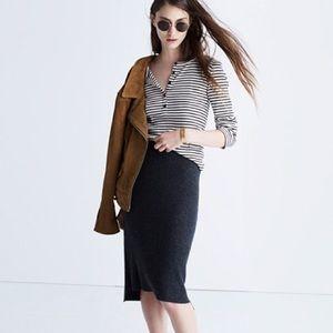 Madewell Rowhouse Sweater Skirt